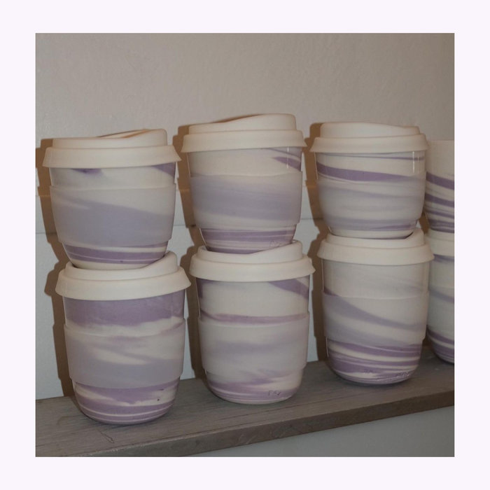 Pas mon style Pas Mon Style Lilac Marble 8oz Travel Cup