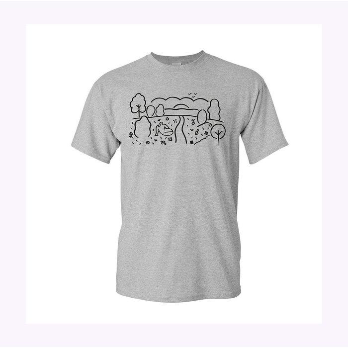 Les Beaux Jours Festive Summer Grey T-Shirt