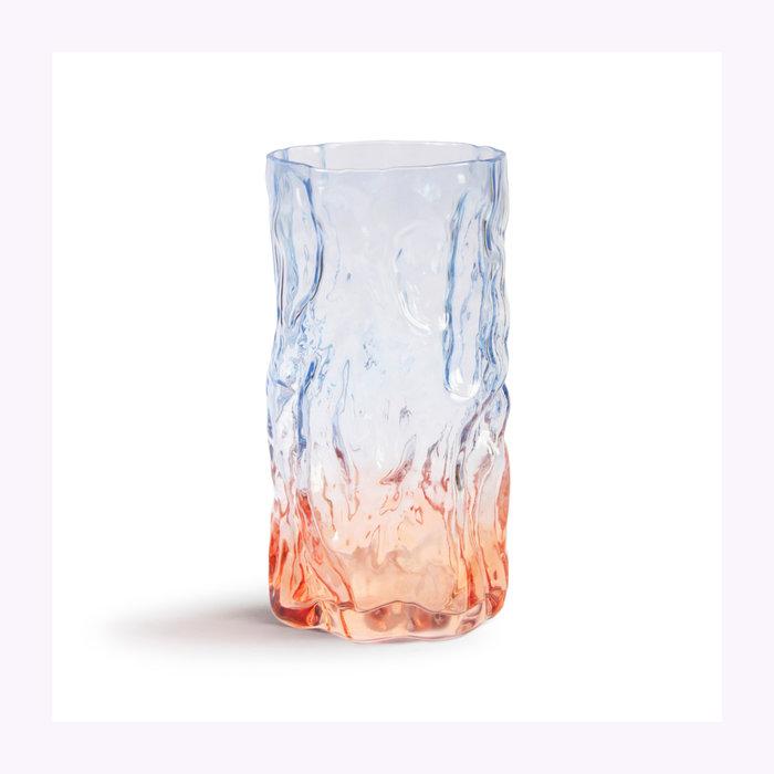 & Klevering &Klevering Blue Bicolor Trunk Vase