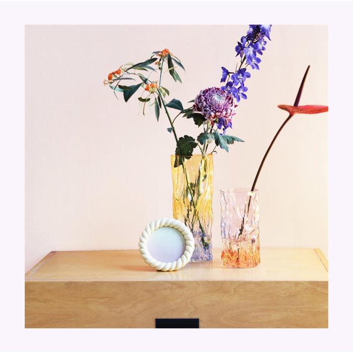 &Klevering Blue Bicolor Trunk Vase