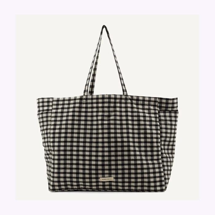 Monk & Anna Monk & Anna Checked Kyodaina Shopper Bag