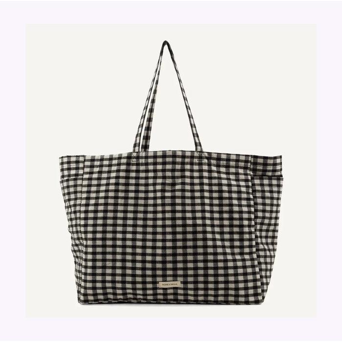 Monk & Anna Checked Kyodaina Shopper Bag