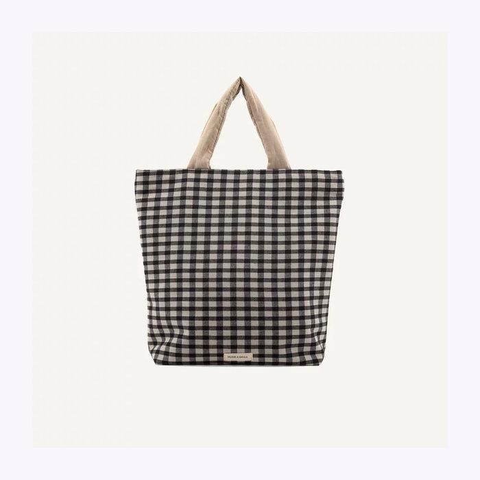 Monk & Anna Monk & Anna Checked Baya Shopper Bag