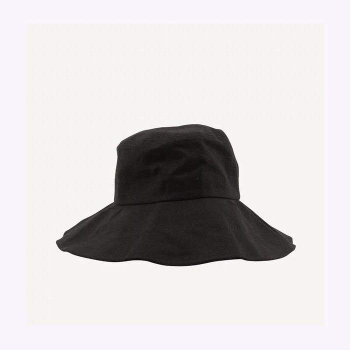 Monk & Anna Monk & Anna Black Linen Sun Hat