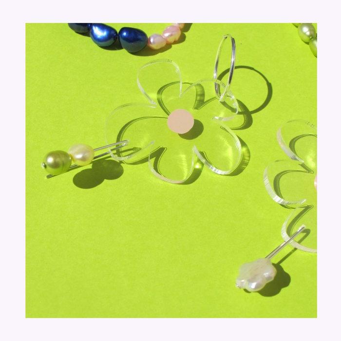 Dorkus Design Dorkus Design Nectar Pearl Earrings