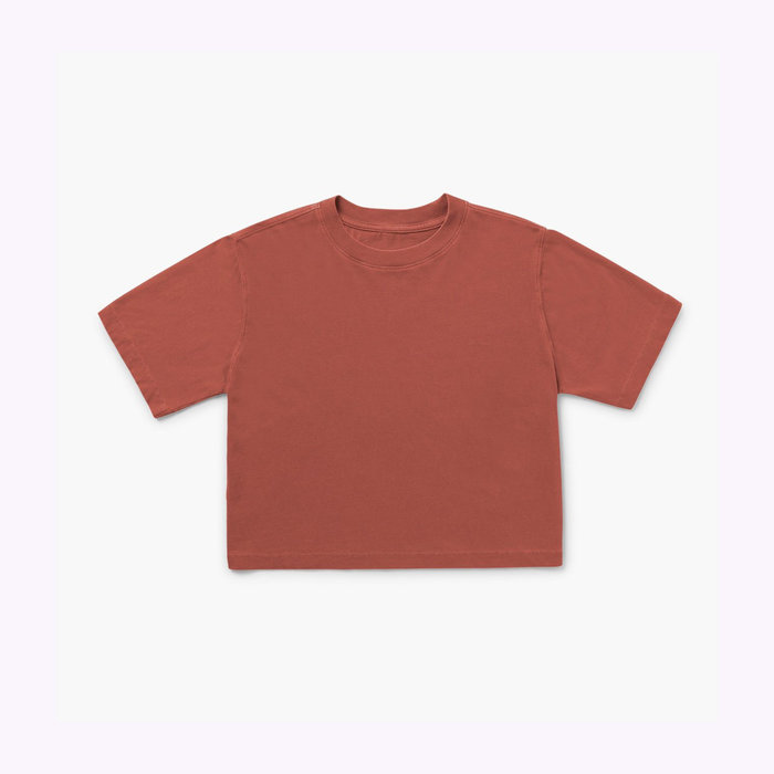 Richer Poorer Relaxed Crop Tee Rouge Ocre Richer Poorer