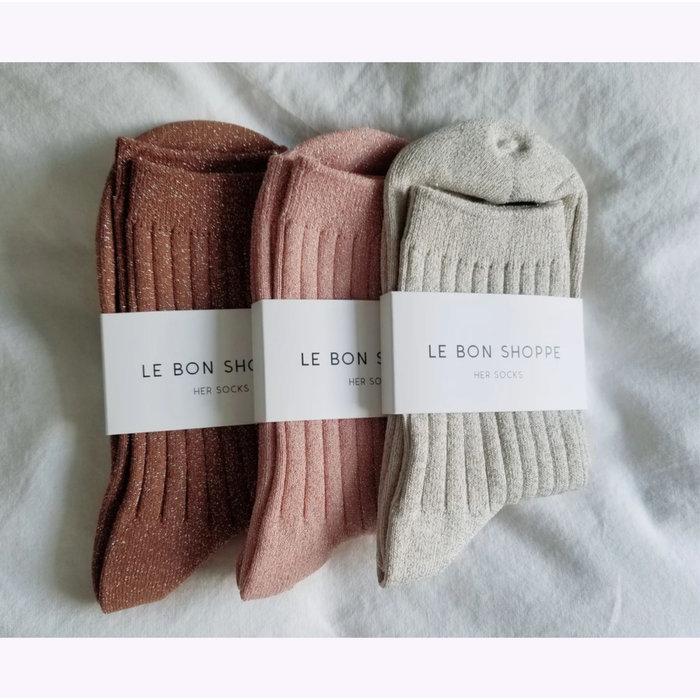 Le Bon Shoppe Coral Lurex Socks