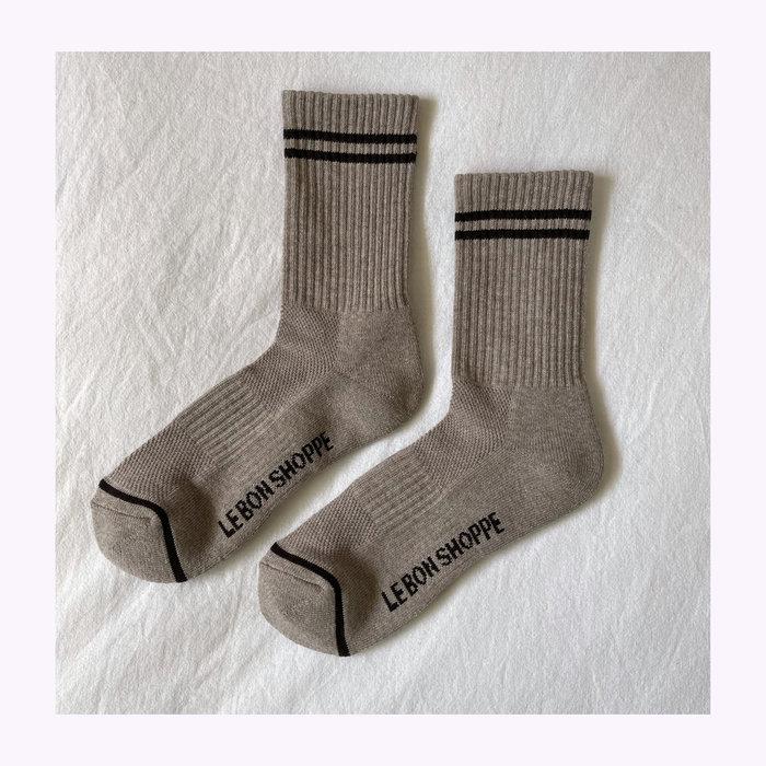 Le Bon Shoppe Le Bon Shoppe Latte Boyfriend Socks