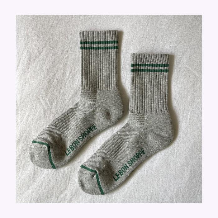 Le Bon Shoppe Le Bon Shoppe Light Grey Boyfriend Socks