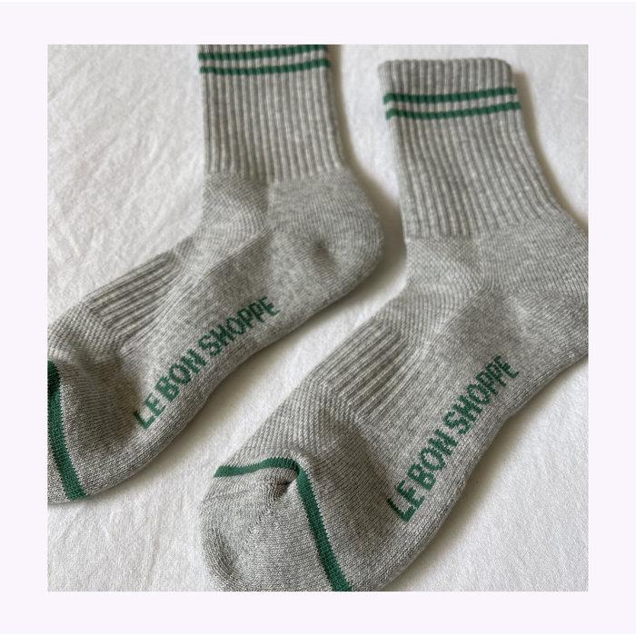 Le Bon Shoppe Light Grey Boyfriend Socks
