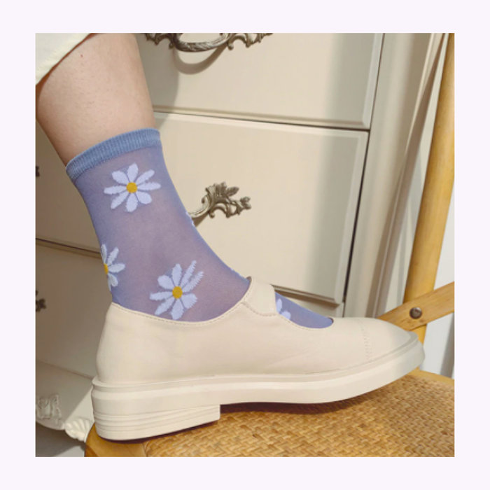Rainbow Unicorn Rainbow Unicorn Flower Power Socks