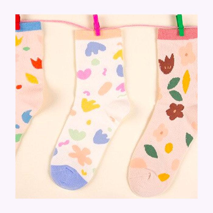 Rainbow Unicorn Rainbow Unicorn White Lynette Socks