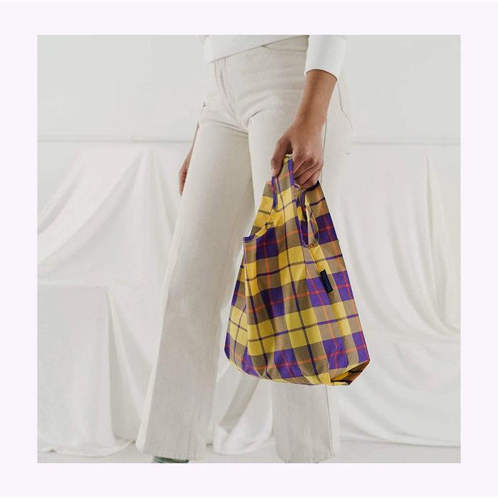 Baby Baggu Yellow Tartan Reusable Bag