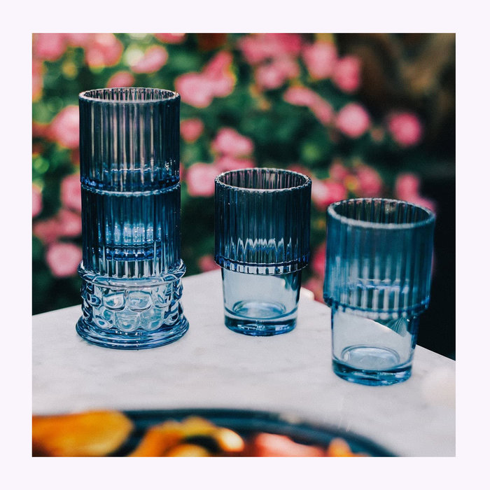 DOIY DOIY Blue Hestia Column Glasses Set