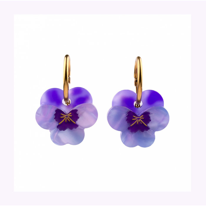 Coucou Suzette Pansy Earrings