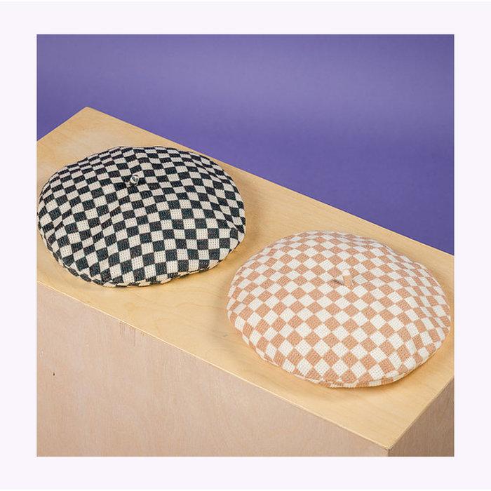 Mercedes Morin Checkered Beret