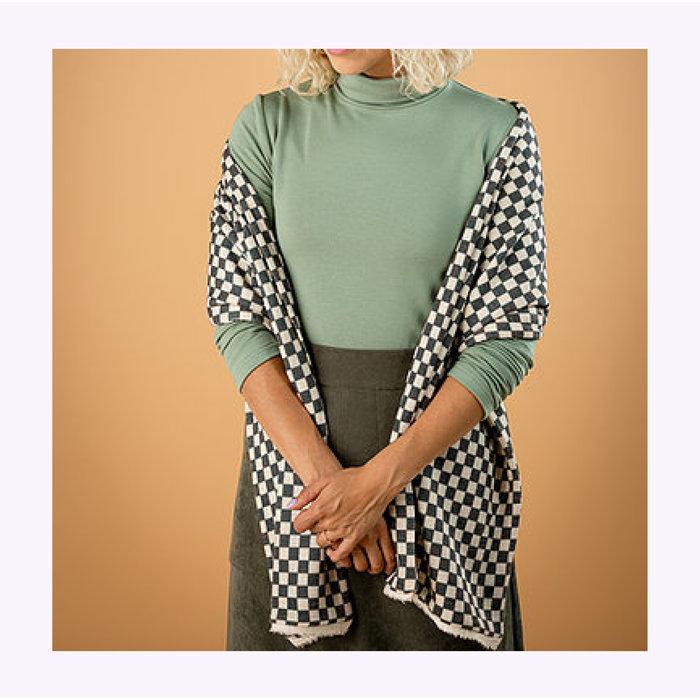 Mercedes Morin Checkered Scarf