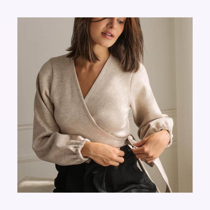 Dailystory Dailystory Stella Wrap-Up Sweater