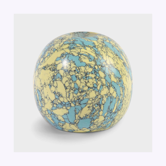 & Klevering &Klevering Yellow Turquoise Candle Holder