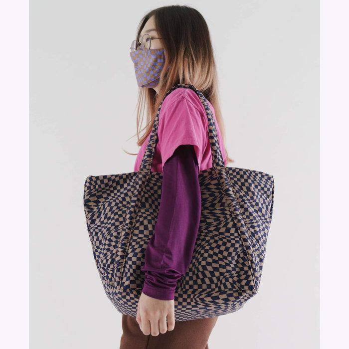 Baggu sac à main Baggu Indigo Trippy Checker Cloud Bag