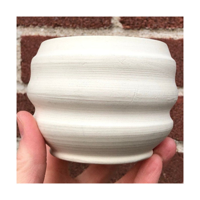 Cache-pot à suspendre ondulé Banfill Ceramics - Porcelaine