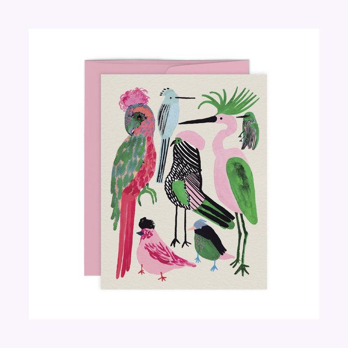 Paperole Carte Oiseaux Exotiques Paperole