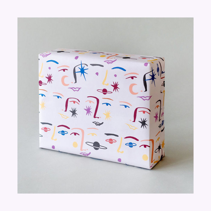 Paperole Gertrudis Shaw x Paperole Moon Face Wrapping Paper