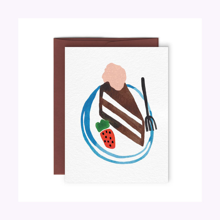 Paperole Choco Cake Card