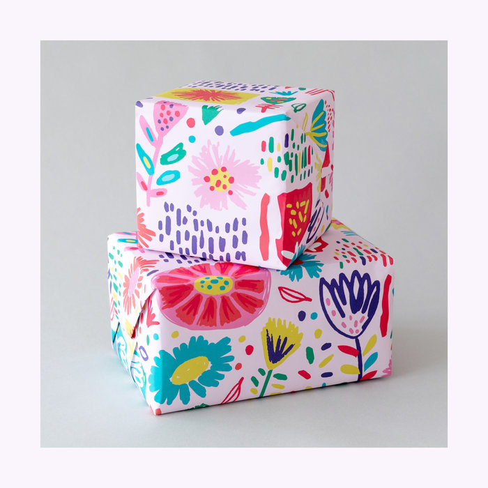 Paperole Vicky Zamora x Paperole Flower Power Wrapping Paper