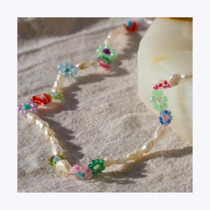 Upcyclé Pop Corn Necklace