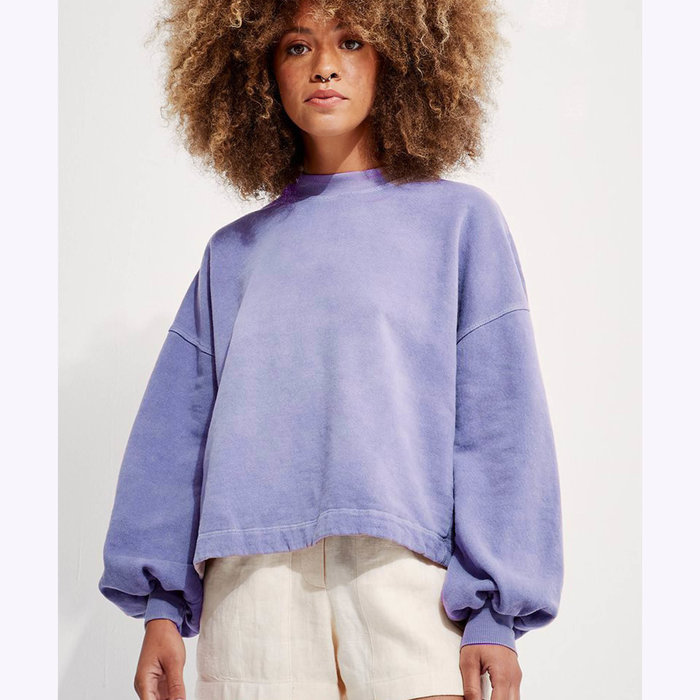 Back Beat co. Back Beat co. Recycled Cotton Puffy Sleeves Sweatshirt