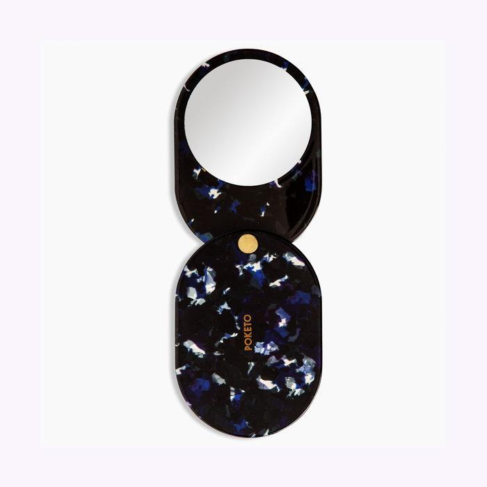 Poketo Miroir de poche Noir Poketo