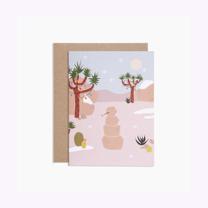 Poketo Joshua Tree Winter Card