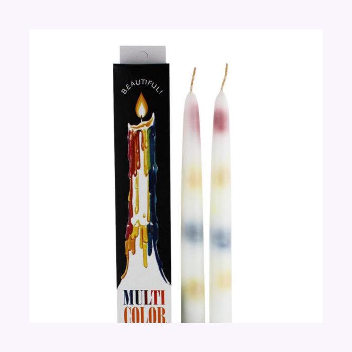 Paquet de 2 Bougies à coulisses multicolores 10 '' Generalwax