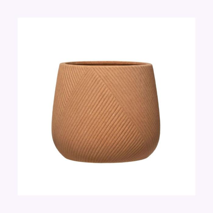 Creative Coop Cache-Pot Terracotta Gravé 6 po x 5 po Creative Coop