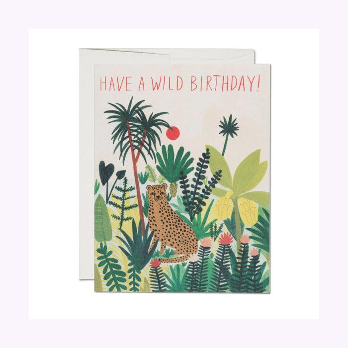 Red Cap Cards Cheetah Card
