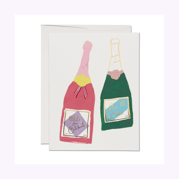Carte Champagne congrats Red Cap Cards