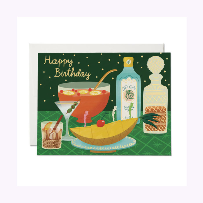 Red Cap Cards Carte Boozy Birthday Red Cap Cards