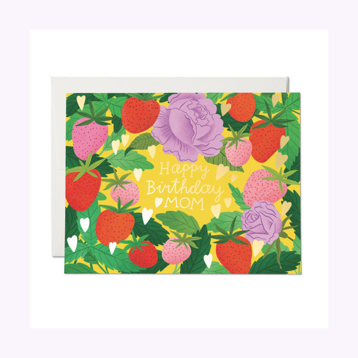 Red Cap Cards Strawberry Mom Card