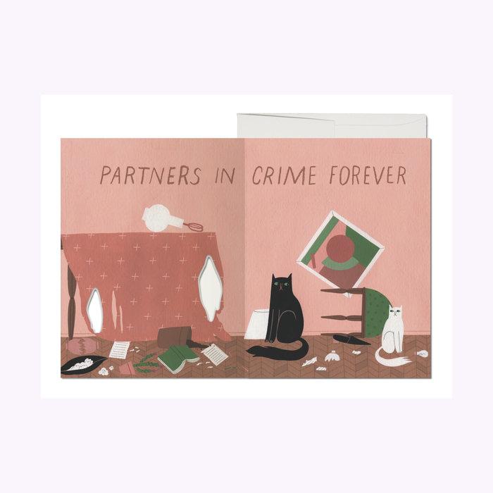 Red Cap Cards Cat Crimes Card