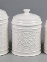 Drew Derose Design Pressed Tin Look Canister Set