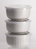 Drew Derose Design Reusable Serving Bowls -White