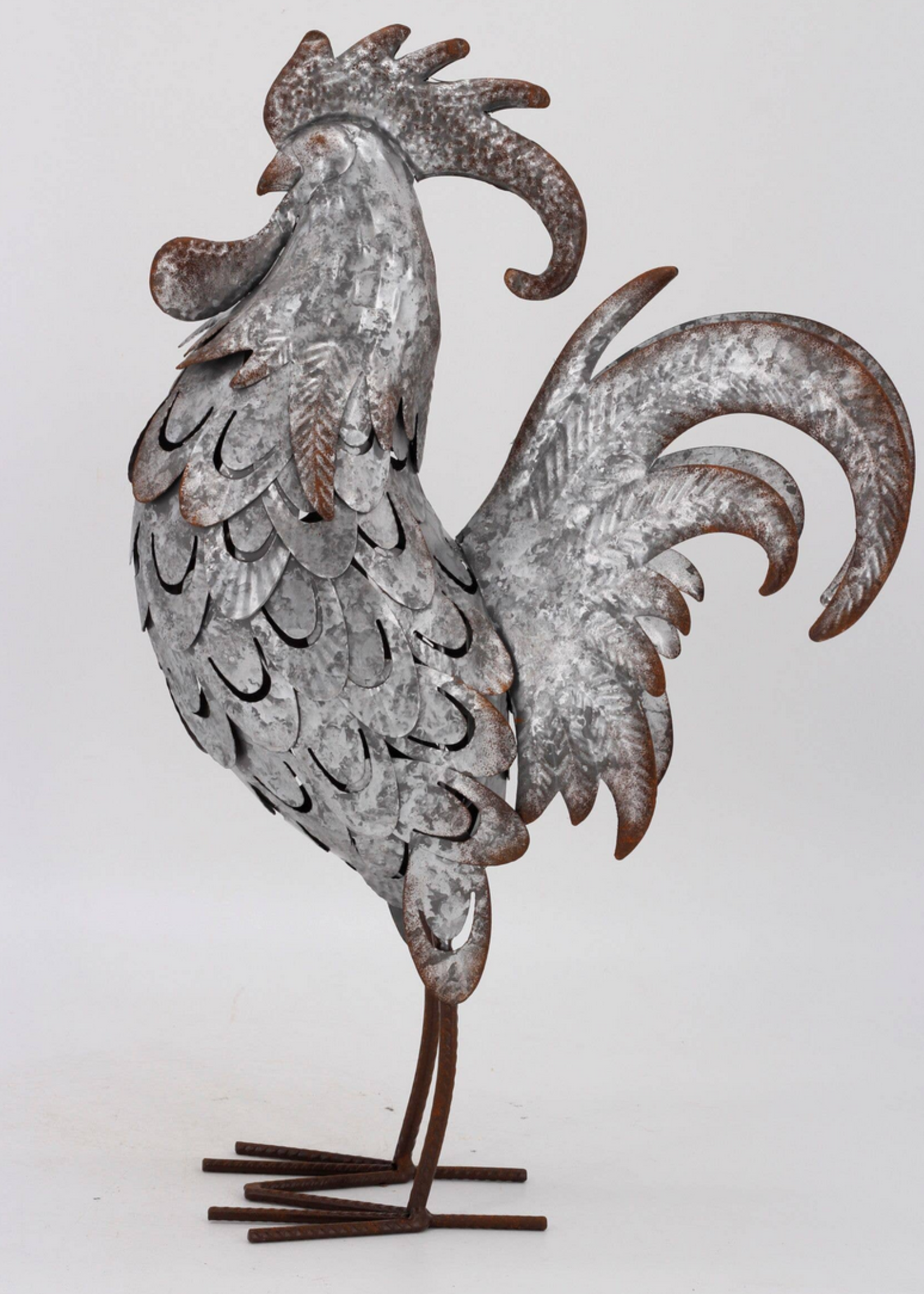Drew Derose Design Galvanized Metal Roosters
