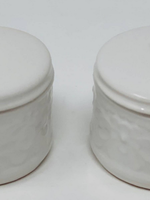Drew Derose Design 39970 White Salt and Pepper Cellars