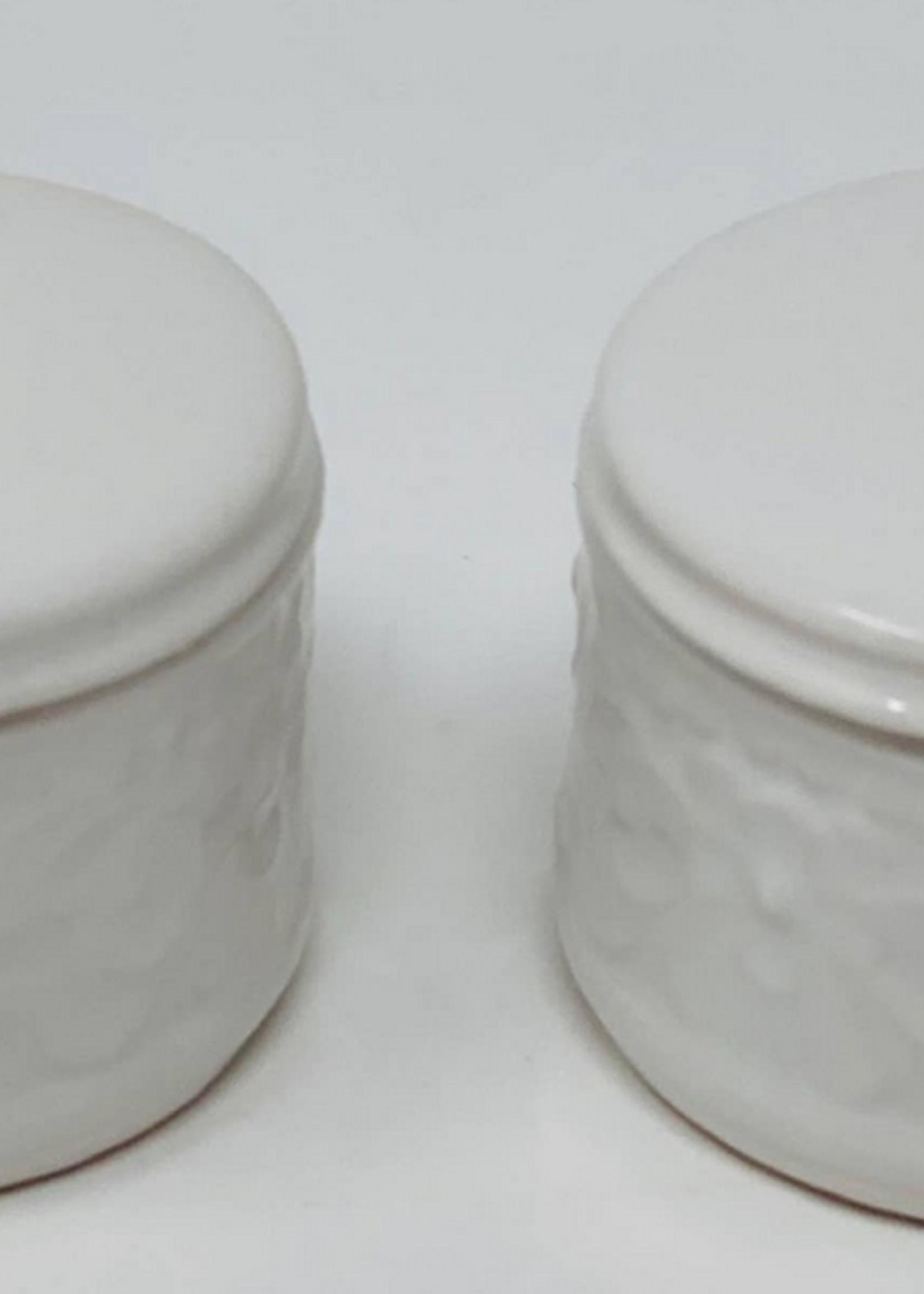 Drew Derose Design White Salt and Pepper Cellars