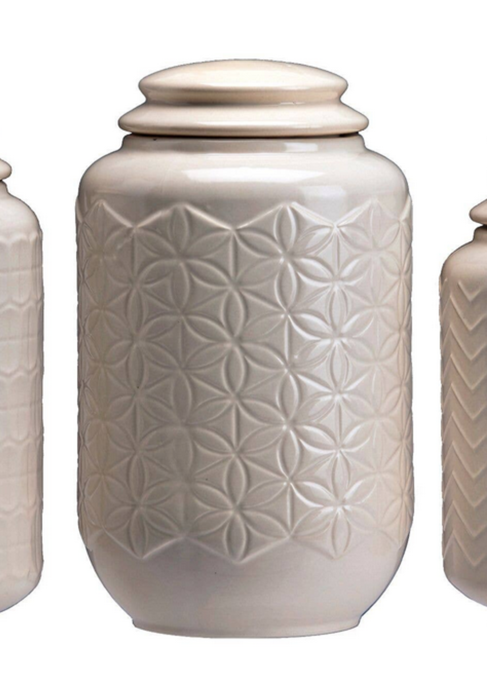 Drew Derose Design Cream Canister Set