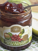 Earth & Vine Provisions, Inc. 10oz APPLE CRANBERRY PEAR CHUTNEY