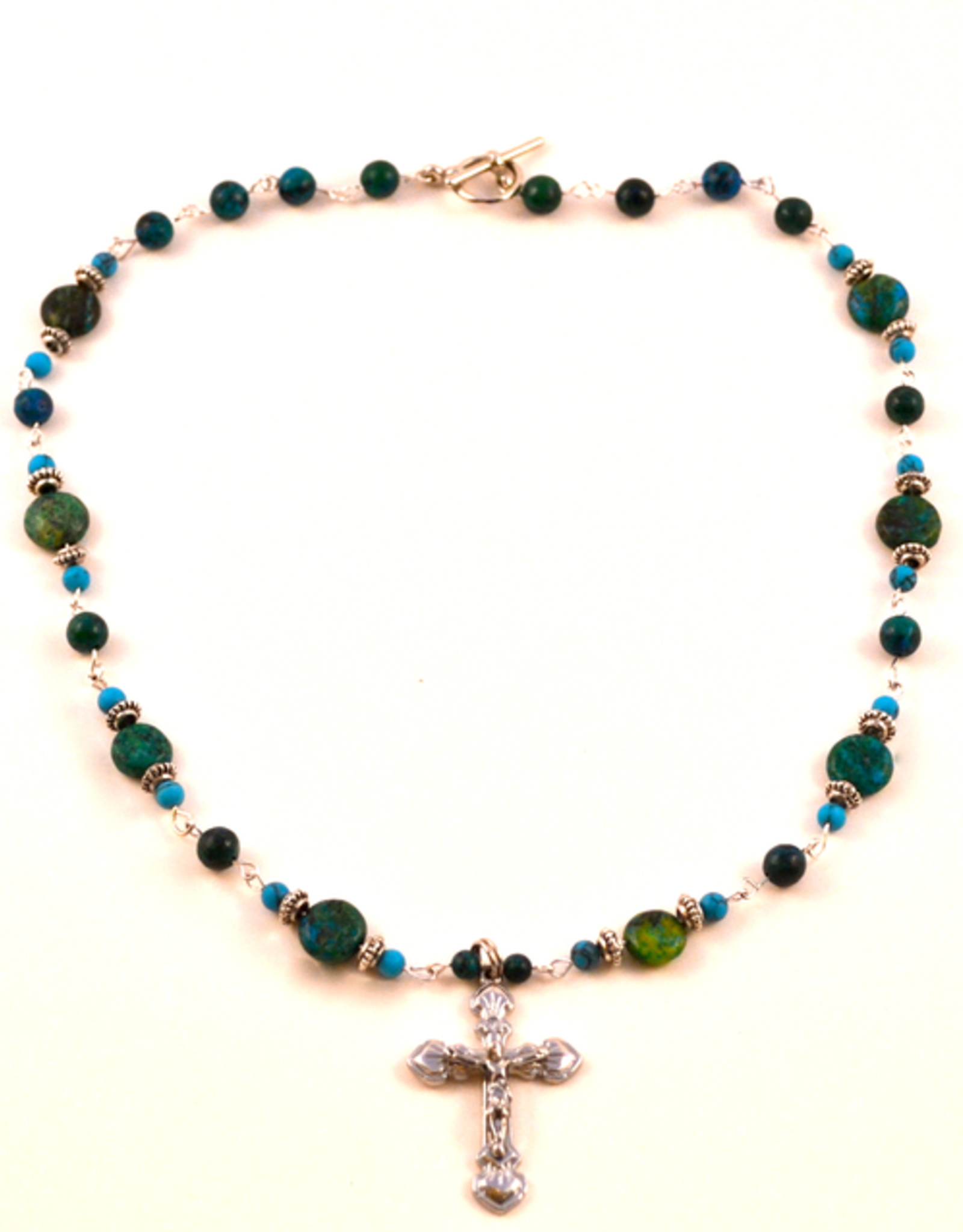 """Credo Catholic 21"""" Credo Catholic Hand Crafted Link Crucifix Necklace"""