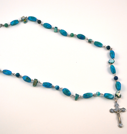 "Credo Catholic 24"" Credo Catholic Hand Crafted Link Crucifix Necklace"