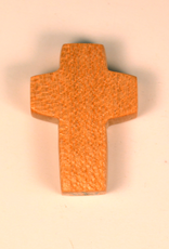 "Merry Crosses 1 1/2"" Merry Hand Crafted Maple Barrel Pocket Cross"